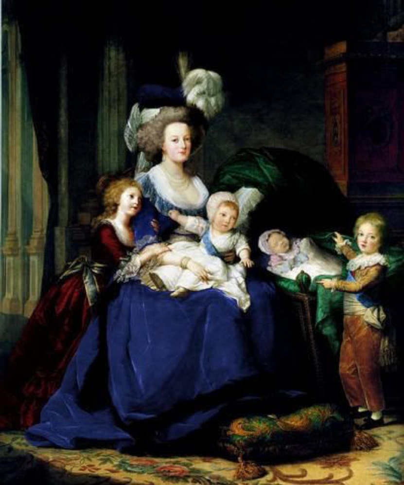 2 - marie antoinette's family photo with sophie